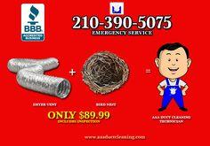 Vent Duct, Clean Dryer Vent, Vent Cleaning, San Antonio, Daily Deals, Facebook