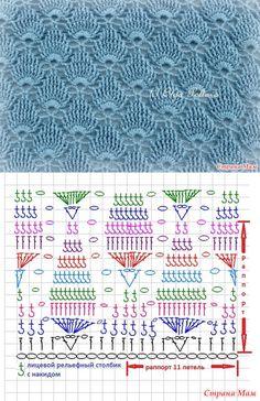 Рукоделие https loveamigurumi com amigurumi crochet knitting amigurumi patterns crochet afghan patterns baby crochet patterns crochet afghan yarn crochet scarf crochet blanket Crochet Motifs, Crochet Diagram, Crochet Stitches Patterns, Crochet Chart, Crochet Designs, Crochet Lace, Free Crochet, Stitch Patterns, Knitting Patterns
