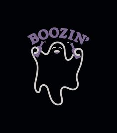 """Boozin'"" black t-shirt.  Fun tees for Halloween!"