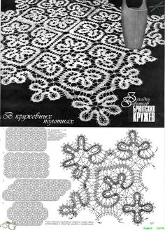Risultati immagini per crochet bruges lace pattern Bruges Lace, Bobbin Lace Patterns, Crochet Doily Patterns, Crochet Motif, Doilies Crochet, Dress Patterns, Filet Crochet, Irish Crochet, Russian Crochet