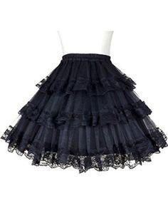 Find Dress's Women's Puffy Rockabilly Net Petticoat Lace Skirt Tutu