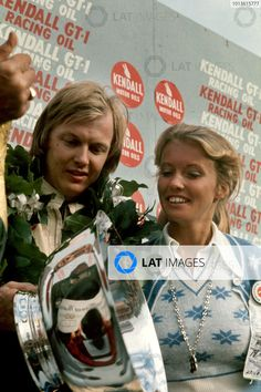 Watkins Glen, New York, USA. October Ronnie Peterson (Lotus position, on the podium with wife Barbro, portrait. World Copyright: LAT Photographic. Sports Car Racing, Race Cars, Jody Scheckter, Dan Gurney, Lotus F1, Watkins Glen, F1 Drivers, Indy Cars, Car And Driver