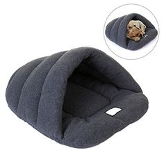 Bluecookies Cozy Dog Cave Pet Bed Slipper Shape Warm Plush Washable Dog Bed for Medium Dogs Cat Grey >>> Continue to the product at the image link.