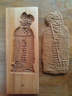 Sinterklaas speculaasplank - St Nicholas cookie mold - St Nikolaus spekulatiusbrett  ( made by arts-et-sculpture )