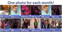 One photo for each month!