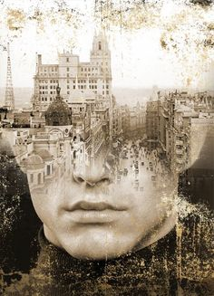 MADRID, ANTONIO MORA (aka mylovt) ~ a Spanish artist who combines with talent portraits photographed in various landscapes