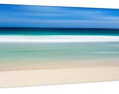 Beach Decor Canvas Gallery Wrap Abstract Ocean Photo Large