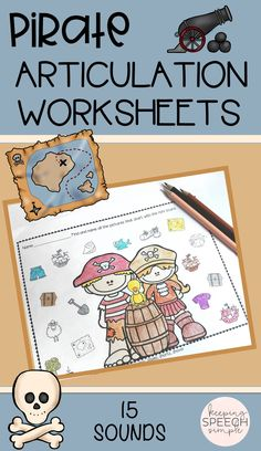 Your students will love these pirate themed printables! Keep these No Prep speech worksheets on hand for Talk Like A Pirate Day. All speech targets are picture supported for your preschool and early elementary students. These activities can be used in the speech room or sent home as homework. Click here to see more of this No Prep resource!