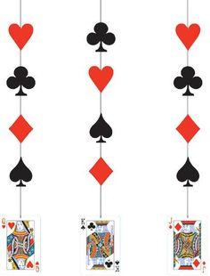 3 Decoraciones para colgar Casino. Disponible en www.vegaoo.es