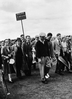 Ben Hogan playing in the 1953 British Open at Carnoustie, Angus, Scotland from July 6 - July 10
