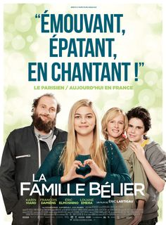 La Famille Bélier (The Belier Family), Director Éric Lartigau. 2015 César Nominee for Meilleur Film (Best Feature Film). This is some of the best acting I've ever seen. Family Movies, Top Movies, Comedy Movies, Film Movie, Deaf Movies, Movies And Series, Movies And Tv Shows, Film 2014, French Movies