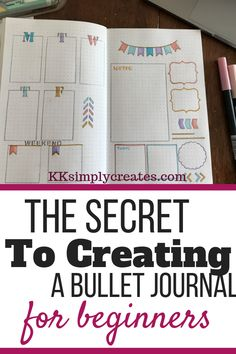 How to Start a Bullet Journal For Beginners/ simple notebook / Bullet journal posts and ideas/ creative weekly spread and layouts/ doodles Bullet Journal Paper, Creating A Bullet Journal, Bullet Journal Hacks, Bullet Journal Notebook, Diy Notebook, Bullet Journal Layout, Bullet Journal Ideas Pages, Bullet Journal Inspiration, Bullet Journal How To Start A Simple