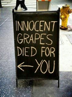 Poor little things....only thing right would be to drink the wine and make their deaths worth something :)