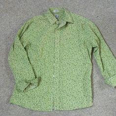 GAP button-down top Light and dark green.  Flowery top.  100% cotton.  Great shape. GAP Tops Button Down Shirts