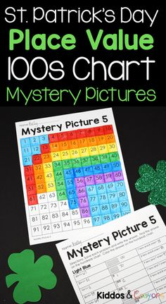 My students love incorporating holidays into our math practice. These St. Patrick's Day activities are perfect for reviewing place value during March. While completing these mystery pictures, students will work to solve place value problems then use the key to color a 100s chart to reveal a mystery picture. #placevalue #stpatricksday #math