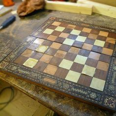 Damaged woodlaid chessboard. #beforeandafter #chess #chesboard #retro #vintagefurniture #restoration #renovation #inlaidwood #wood #backtolife #asnew #vintagetreasures #synchronicityvintagefurniture Furniture Restoration, Chess, Vintage Furniture, Retro, Wood, Instagram, Gingham, Woodwind Instrument, Restoring Furniture