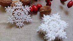 Snowflake garland nr 4 - Her Crochet Crochet Snowflake Pattern, Crochet Motifs, Crochet Snowflakes, Snowflake Garland, Lace Doilies, Crochet Doilies, Crochet Flowers, Mercerized Cotton Yarn, Crochet Diy