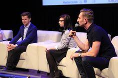 Discussion panel - Videoblogging as a alternative to traditional video distribution. From the right: Łukasz Jakóbiak (20 metrów Łukasza), Paulina Mikuła (Mówiąc Inaczej),  Radek Kotarski (Polimaty)
