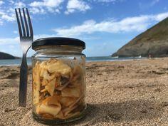 Pasta snack on the beach!