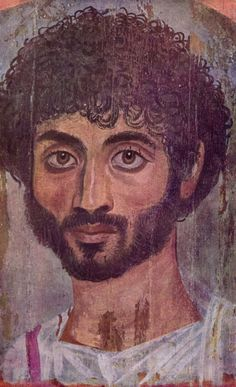 Fayum mummy portraits. Portrait of a boy,