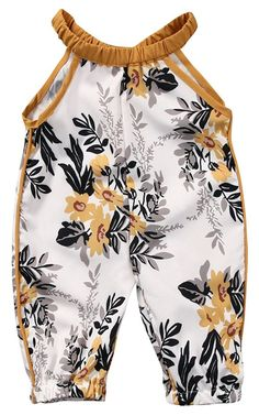 Cheap baby rompers, Buy Quality cotton baby romper directly from China baby romper jumpsuit Suppliers: newborn kid baby girl clothes sleeveless floral print cotton baby romper jumpsuit one piece baby clothes outfit set baby romper Romper Outfit, Romper Pants, Suspender Pants, Baby Pants, Playsuit, Baby Outfits Newborn, Baby Girl Newborn, Baby Girls, Toddler Girls