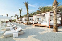 Eden Beach Club at Rixos - best things to do in Dubai Pergola, Gazebo, Beach Hotels, Beach Resorts, Beach Club, Dubai Beach, Ibiza Beach, Beach Cabana, Villa