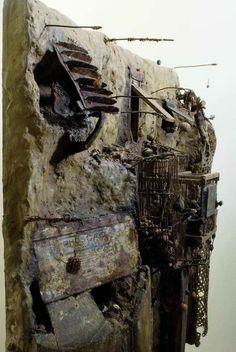 GERARD CAMBON – Toulouse (France) Collages, Collage Art, French Sculptor, Paper Mache Sculpture, Junk Art, Assemblage Art, Texture Painting, Art Object, Magazine Art