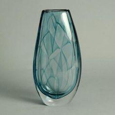 """Colora"" glass vase by Vicke Lindstrand for Kosta N9647"
