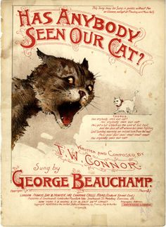 Has Anybody seen our cat ?, 1899 (ill.: H.G. Banks); ref. 8525 #CatIllustration