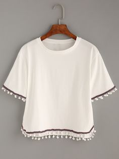 Shoulder(cm): 44cm Size Available: one-size Length(cm): 53/55cm Sleeve Length(cm): 21cm Bust(cm): 92cm Fabric: Fabric has no stretch Season: Summer Pattern Type: Embroidery Sleeve Length: Short Sleeve