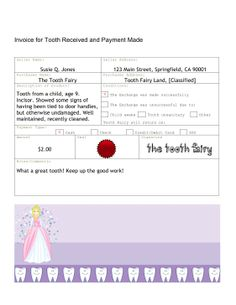 Hertz Toll Receipt Excel Forgettful Tooth Fairy Free Printable Note  Over The Big Moon  Target Receipt Number Excel with Invoice Reminder Template Pdf The Invoice In This Free Printable Tooth Fairy Letter Serves As A Receipt  For The Parking Receipt Template Free Word