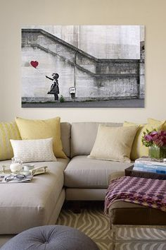 Bedroom Wall? There Is Always Hope Balloon Girl by Banksy Canvas Print