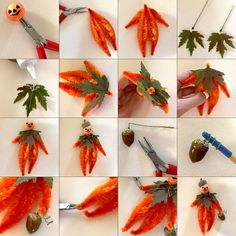 Christmas Ornaments To Make, Christmas Makes, Pipe Cleaner Art, Pipe Cleaners, Halloween Crafts, Holiday Crafts, Chenille Crafts, Embossed Fabric, Pumpkin Man
