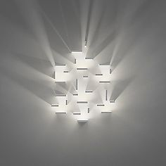 """""""Set"""" by J Ll Xuclà for Vibia. Another great modular design from Vibia. Arrange as many of the modules wherever you like to create patterns of light and dark. Diy Luminaire, Luminaire Design, Lamp Design, Light Art, Lamp Light, Light Bulb, Led Lampe, Cool Lighting, Futuristic Lighting"""