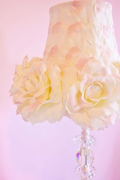 Floral lamp shade - this is beautiful!