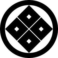 家紋 丸に隅立四目 Maru Ni Sumitateyotsume 家紋 日本 文様
