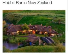 The Hobbit Bar in New Zealand - I am going here some day!