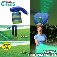 Do you need a perfect solution for your lawns? The Seed spray kettle provides you the perfect solution for homeowners with patchy lawns that need repair. Diy Garden, Garden Care, Garden Projects, Lawn And Garden, Garden Tools, Projects To Try, Lawn Care, Diy Crafts Videos, Backyard Landscaping