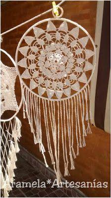 mandala atrapasueños a crochet 5