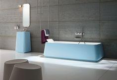 Bañera celeste   #bañera #bathtube #free #bath #freebath #azul #blue