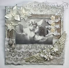 Card created by LLC DT Member Eulanda Silvey, using papers from Maja Design's Vintage Summer Basics collection.