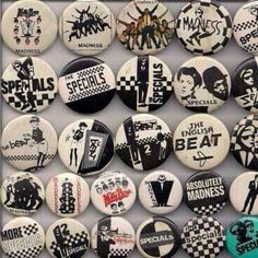 1980's Ska Badges. My Favorite Music, My Favorite Things, Youth Subcultures, Rude Boy, Indie Music, Film Music Books, Pin Badges, Reggae, Rock And Roll