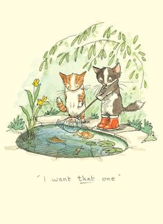 M211 I Want That One - A Cat Card by Anita Jeram