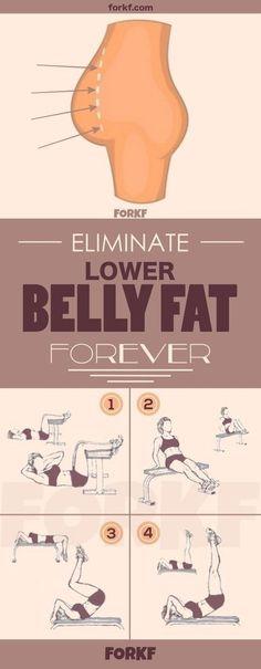 Eliminate lower belly fat