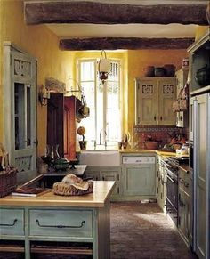 French Country Kitchen rooster motif   Rooster Motif Kitchen   Atticmag   Kitchens, Bathrooms, Interior ...
