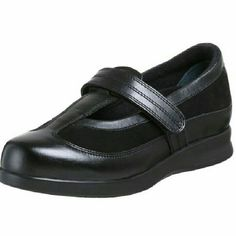 NIB Drew Desiree Black Sz 8N Mary Jane supportive sporty shoes. Adjustable straps keep a secure perfect fit. Rocker bottom designed to subtly motivate your stride while supporting your feet, ankles, knees and back. Leather and mesh with rubber sole. Excellent choice for standing and walking without discomfort. Drew Shoes Flats & Loafers