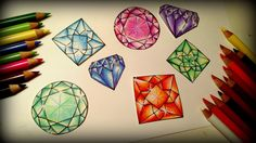 This listing is for a written tutorial and 6 gem pages. This is a full length written tutorial taking you step by step through the faceted gem coloring process. Each step has a picture to help guide you on your personal gem coloring journey! This tutorial comes with six gorgeous practice pages from my gemstone book! So that you can jump right in and begin! I hope it brings you much enjoyment and hours of coloring fun! These pages are for personal use only and is not to be distributed in any…