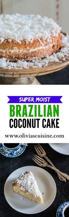 Brazilian Moist Coconut Cake – Famous Last Words Dessert Simple, Cupcake Recipes, Cupcake Cakes, Dessert Recipes, Cupcakes, Coconut Recipes, Baking Recipes, Köstliche Desserts, Coffee Cake