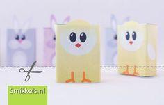 Traktatie rozijnen kuikentjes | met gratis print voorbeeld | Healthy raisins box treat with free printable chicken | Smikkels.nl