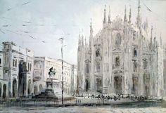 The Duomo, Oil on Canvas, original painting  $150 (in euro)  40 cm x 60 cm
